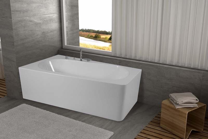 Vasca Da Bagno Asimmetrica : Vendita vascha da bagno jetfun mod sayren asimmetrica online