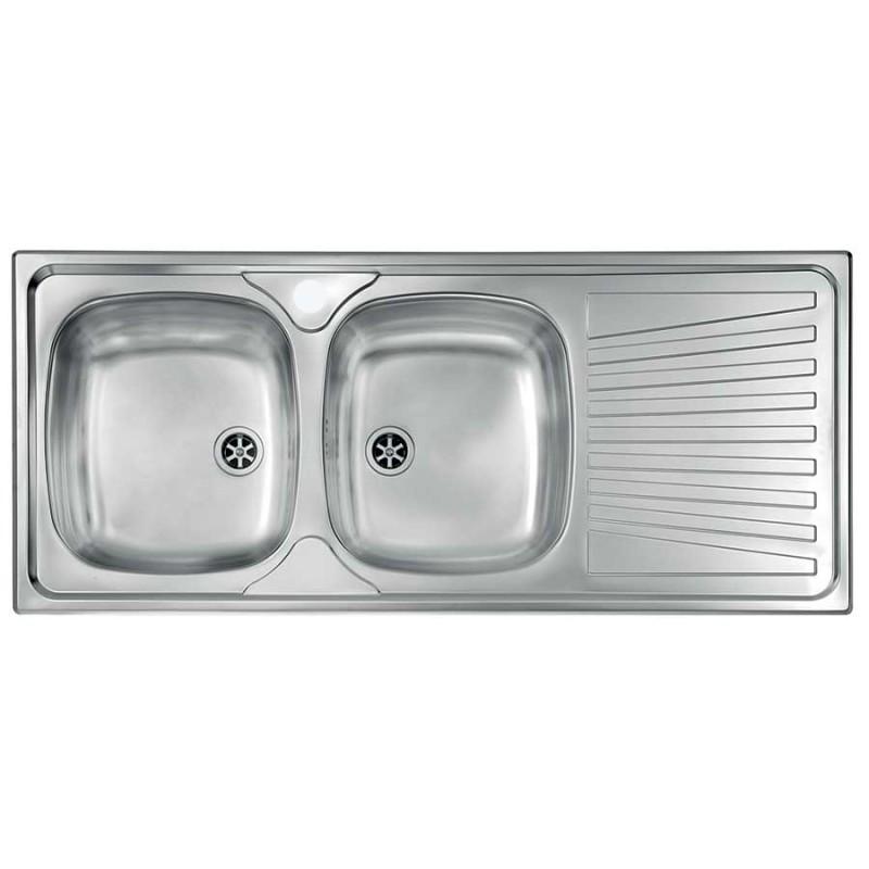 Lavello due vasche inox for Lavello cucina prezzi