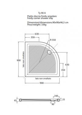 Piatti doccia termitaly - Dimensioni piatto doccia rettangolare ...