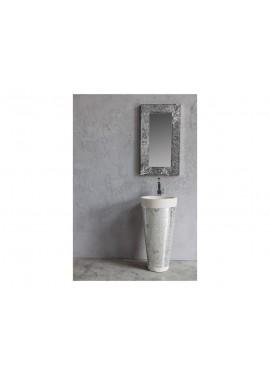 Lavabo d'appoggio in petra/resina Cipì STAND UP Mosaico Plain