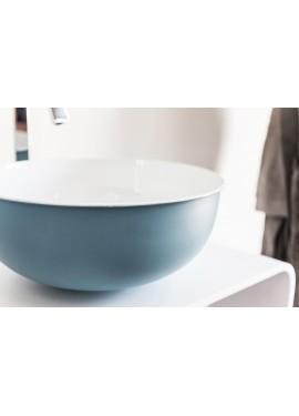 Lavabo d'appoggio in metallo Cipì OPEN Azzurro