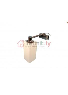 Applique da bagno cromato lampada a morsetto per specchio con cornice