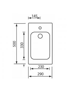 Lavello cinzia 29x50 inox