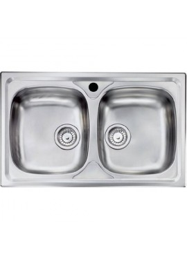 Lavello due vasche inox