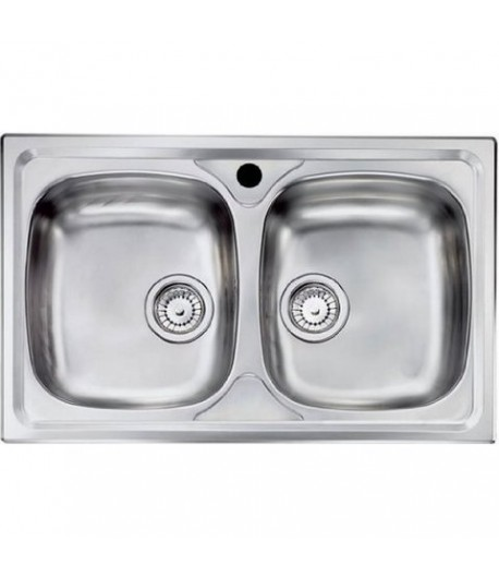 Lavello due vasche inox