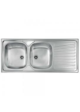 Lavello inox due vasche incasso