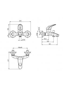Miscelatore vasca esterno con set doccia Fima serie 18