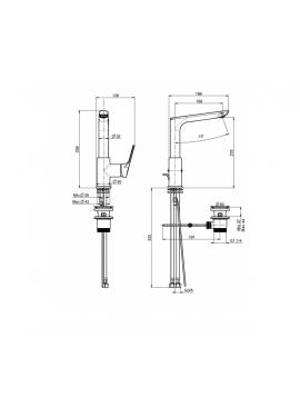miscelatore lavabo fima serie 4 con canna fusa girevole