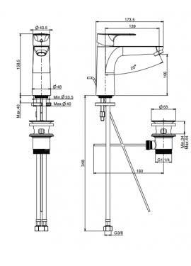 Miscelatore bidet FIMA serie 22