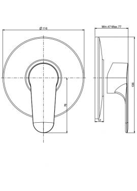 Miscelatore doccia a incasso FIMA serie 22