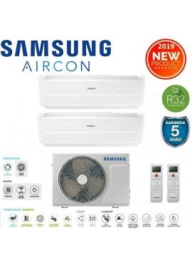 Climatizzatore Samsung serie Windfree Evo 12000+12000+Unità esterna