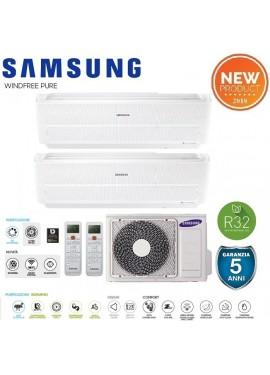 Condizionatore Samsung Windfree Pure dual 12000+12000+Unità esterna