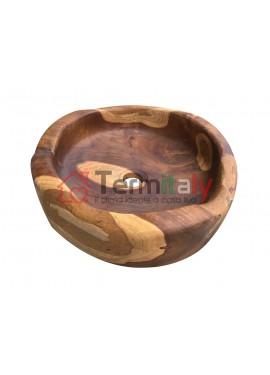 Lavabo da appoggio in legno cipì BANTUL BASIN