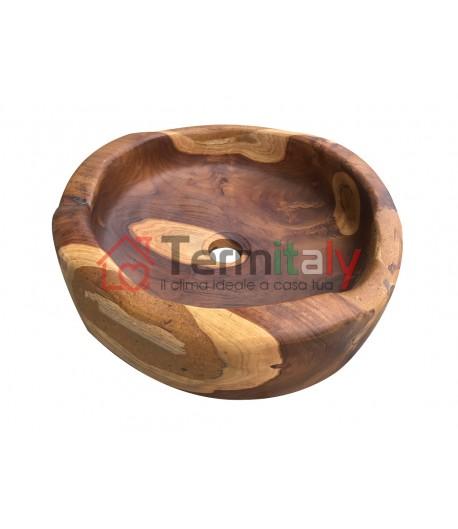 Lavabo da appoggio in legno cipì SODO TEAK