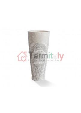 Lavabo d'appoggio in marmo Cipì STAND UP Bianco