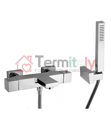 Miscelatore vasca termostatico con kit doccia Paini serie VENTI