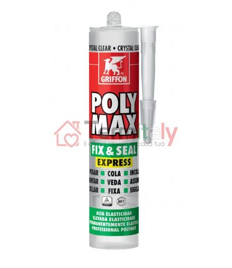 Griffon POLY MAX® FIX & SEAL EXPRESS 300 g Trasparente Cristallino