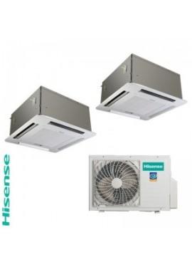 climatizzatore Hisense Dual Split a cassetta 12+12